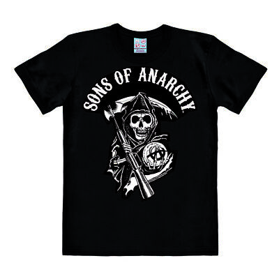 Easy Fit Shirt (LOGOSHIRT - Sons of Anarchy - Logo - Easyfit - T-Shirt Herren - schwarz )