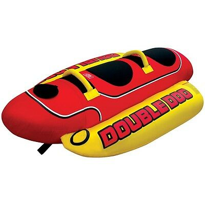 Boating Banana Airhead Double Dog Boat Towable Water Tube 2 Person Rider  hd-2