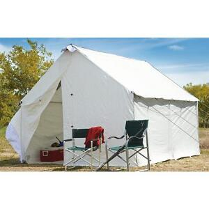 10 x 12 Canvas Wall Tent Complete Bundle with Floor u0026 Frame Included Large  sc 1 st  eBay & Wall Tent | eBay