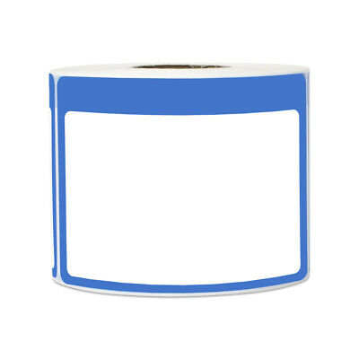 Blue Name Tag Blank Sticker Labels Write-on Surface Colorful Border 3.5 X 2.25
