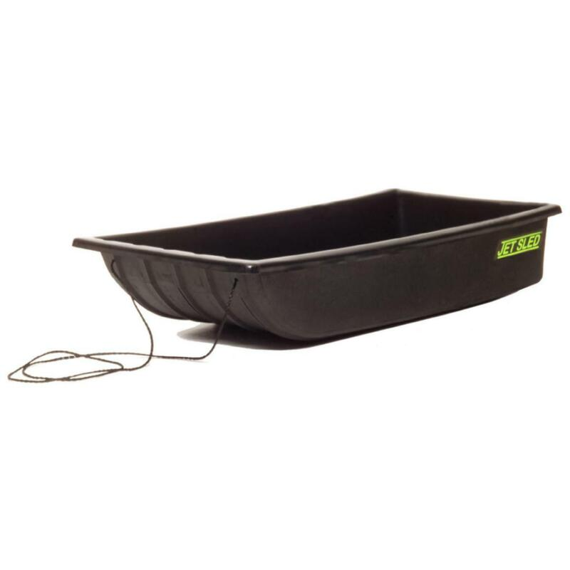 SHAPPELL Jet Ice Fishing Sled Tow Rope Molded Runner Container Gear Haul Black