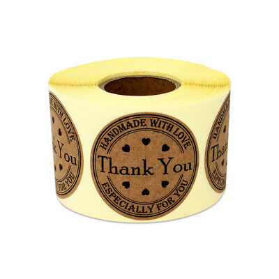 Thank You Handmade With Love Stickers Labels Especially For You Handcraft 1.5