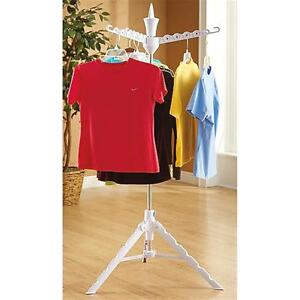 Clothes Tree Folding Portable Collapsible display hanger rack drying travel