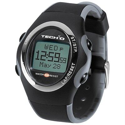 Tech4O MENS Accelerator Carbon SPEED & DISTANCE RUNNING WATCH *NEW* £90 RRP