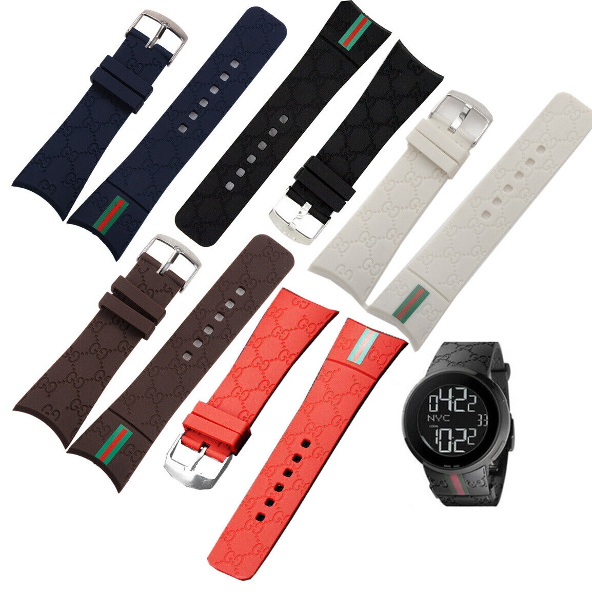 26mm rubber replacement watch band strap