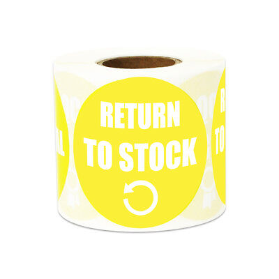 Return to Stock Stickers Inventory Warehouse Count Round Labels (2