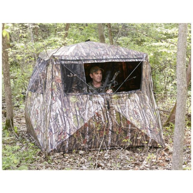Camo Flare Out 5-Hub Ground Hunting Blind Deer Turkey Bow Crossbow  sc 1 st  eBay & Camo Flare out 5-hub Ground Hunting Blind Deer Turkey Bow Crossbow ...