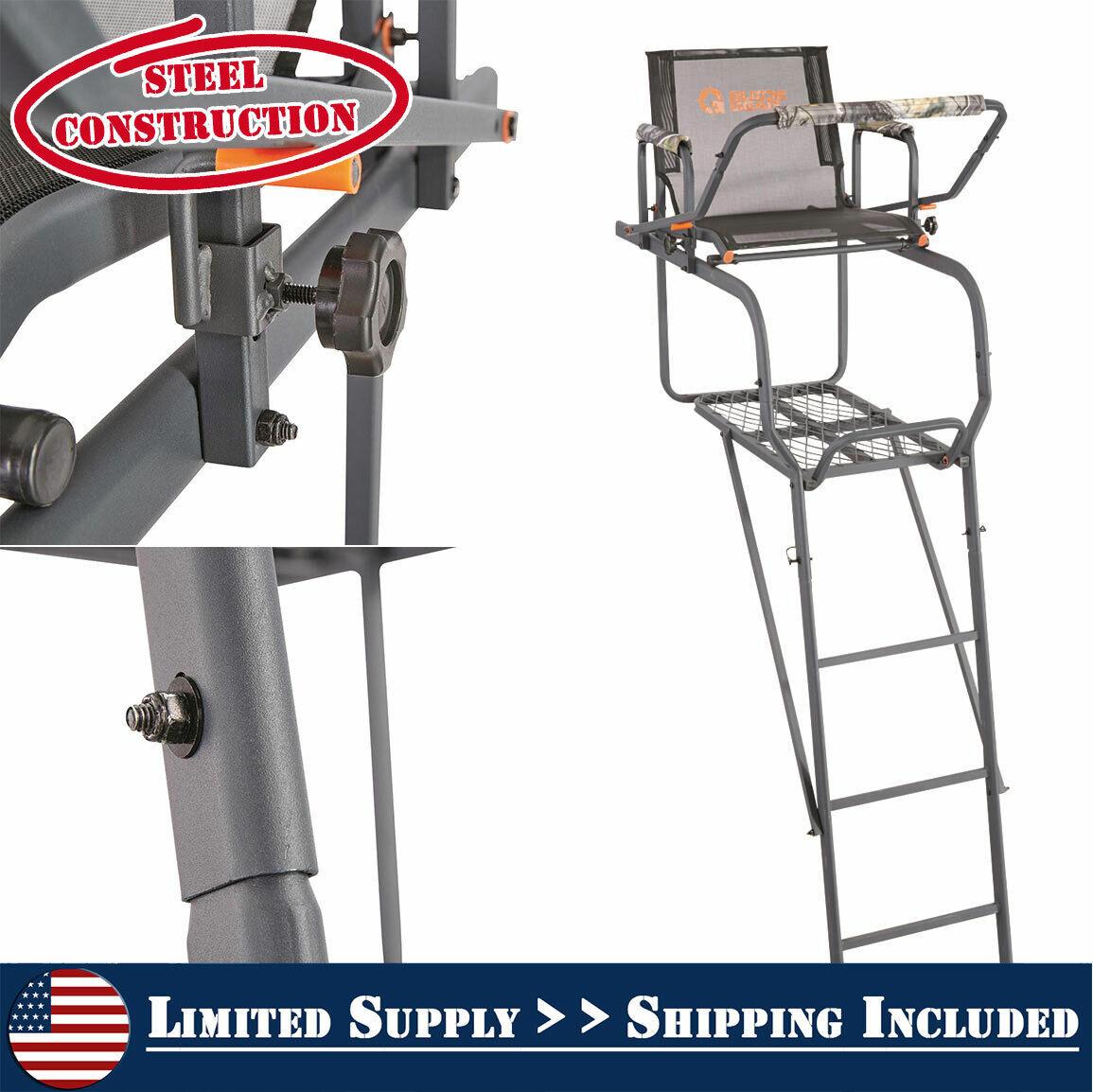 Ladder Tree Stand 15.5 feet Game Gun Bow Hunting Archery Dee