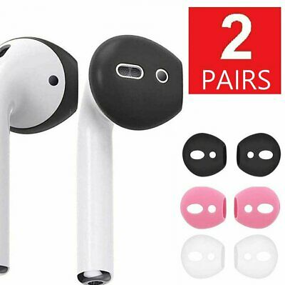 2-Pairs Soft Rubber Ear Tips Earbud Cover For Apple AirPods Air Pod Earpods Cell Phone Accessories