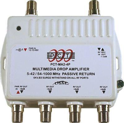 4-Port Cable TV OTA HDTV Amplifier Splitter Signal - Hdtv Signal Splitter