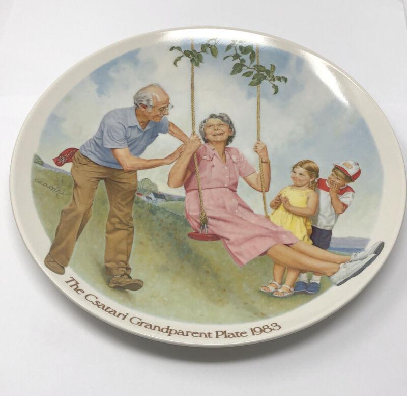 Knowles Fine China The Csatari Grandparent Plate 1983 The Swinger #B17019