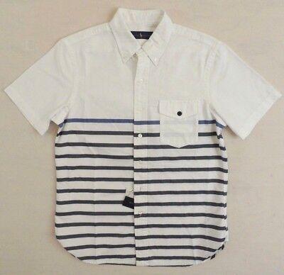Polo Ralph Lauren Patch Pocket Striped Nautical Classic Oxford Dress Shirt L XL