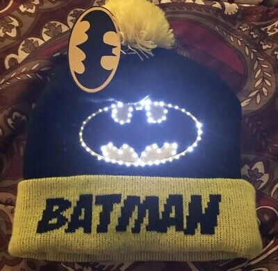 Batman beanie hat With Lights