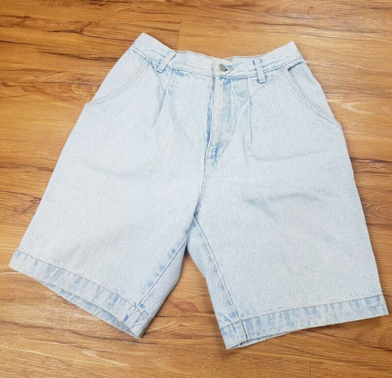 GUESS USA Shorts Georges Marciano vintage pleated denim (size 26) 80s 90s