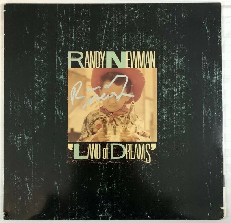 RANDY NEWMAN HAND SIGNED LAND OF DREAMS VINYL LP AUTHENTIC AUTOGRAPHED RARE