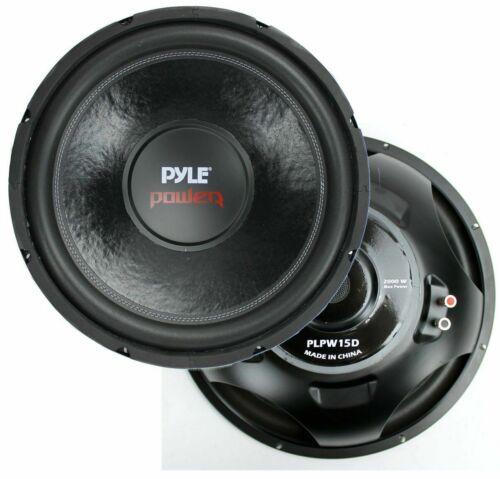 Pyle PLPW15D 15-Inch 2000 Watt Dual 4 Ohm Subwoofer Pyle Audio Bass Speaker pair