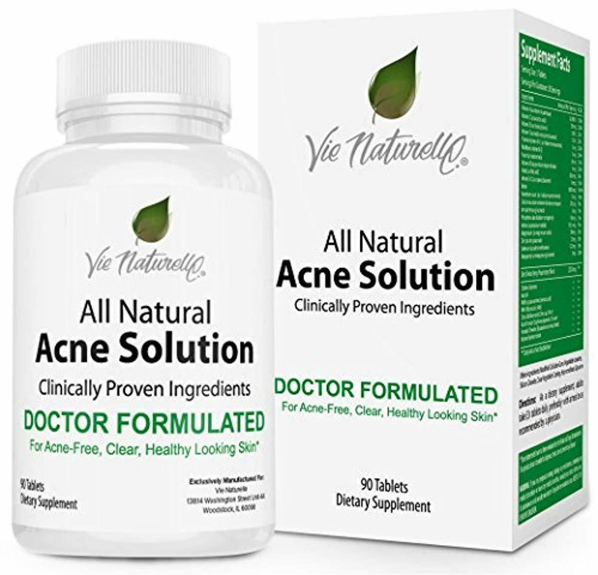 Acne Vitamins Supplements for Acne Treatment - 90 Natural Su