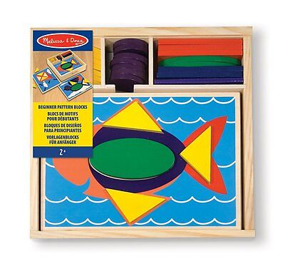 Melissa and Doug Beginner Pattern Blocks , New, Free Shipping
