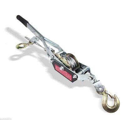 4 Ton 8000lb Come Along Hoist Ratcheting Cable Winch Puller Crane Come Along