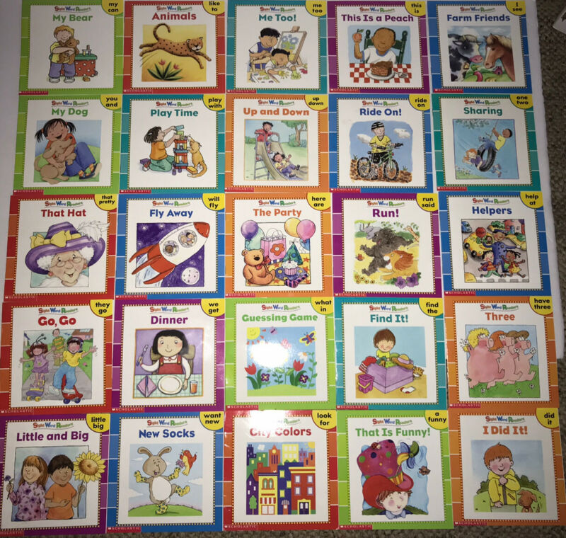25 Scholastic Sight Word PB Readers Book SET- 50 First Sight Words LEARN TO READ
