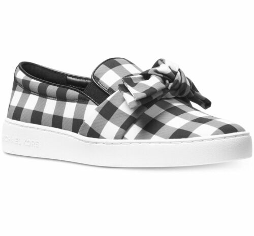 Michael Kors Willa Slip-On Sneakers Black White NIB $120 Retail