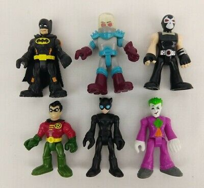 Lot of 6 Imaginext DC Super Friends Figures ~ Mr Freeze Joker Batman Robin Bane