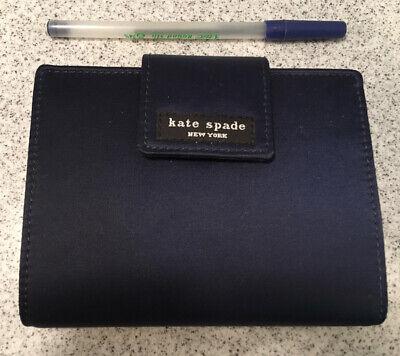 Kate Spade Navy Blue Nylon 6 Ring Personal Organizer W Travel Expense Notes