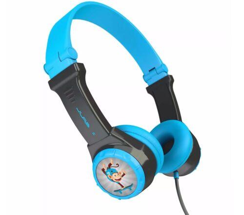 JLab Audio JBuddies | Folding Wired Headphones for Kids - Bl