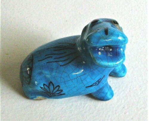 MMA Metropolitan Museum of Modern Art Blue William Hippo Ceramic Figurine