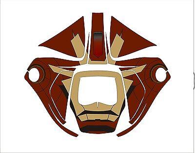 3m Speedglas 9100 V X Xx Auto Sw Jig Welding Helmet Wrap Decal Sticker Iron Man