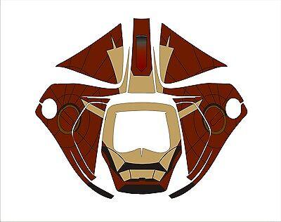 3m Speedglas 9100 V X Xx Auto Sw Welding Helmet Decal Sticker Iron Man Brown