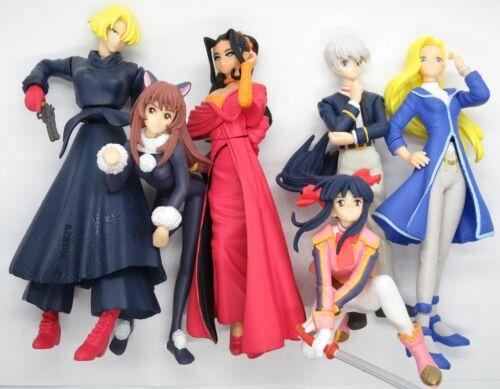 "Sakura Wars 2 & 3 Video Game 4"" Gashapon Figure Collection Set 1998 HGIF Taisen"