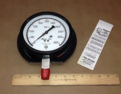 Marsh 1-lyh-29970-akc High Pressure Gauge 0 - 4000psi 210-3ss 316 Stainless S.