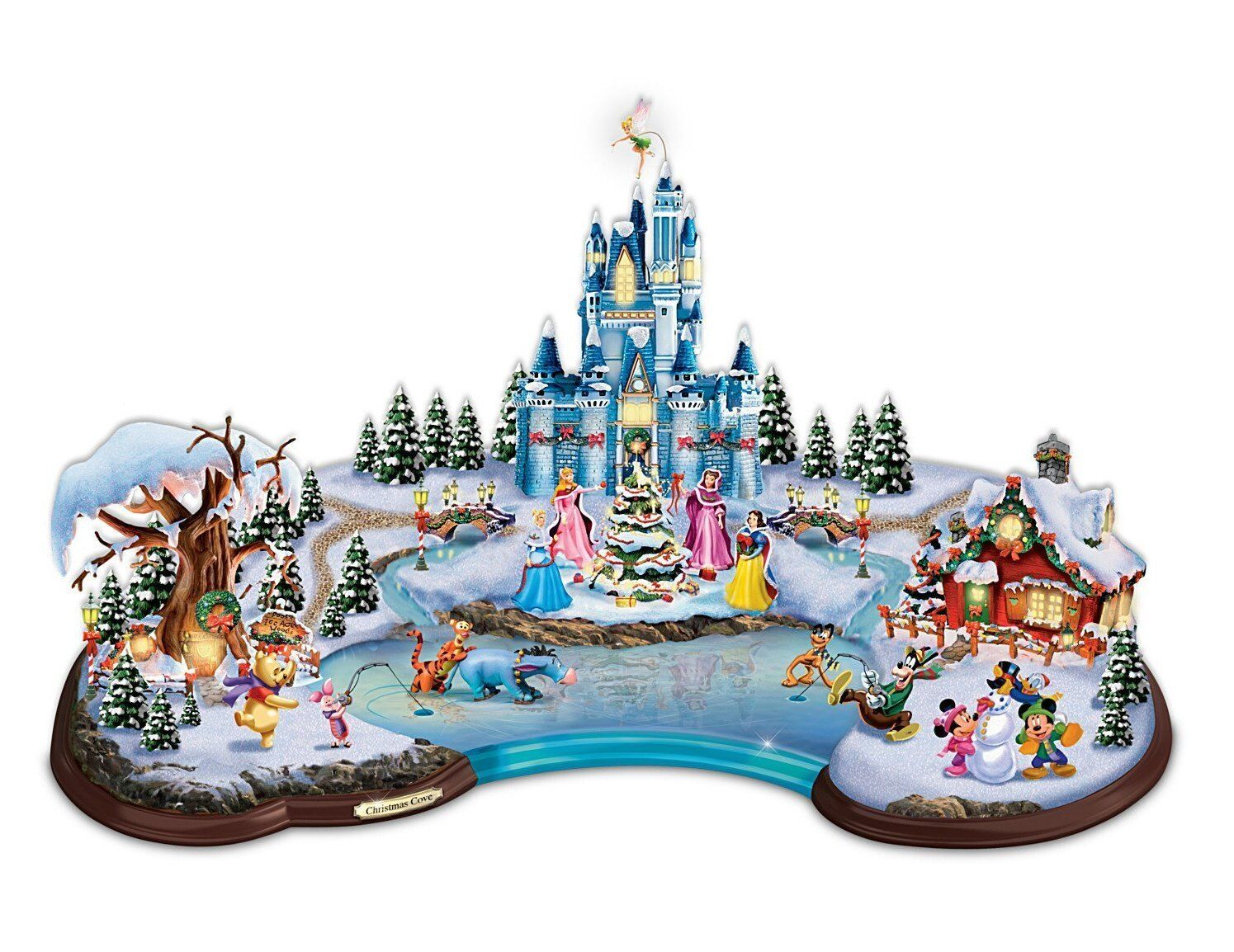 Disney Christmas Cove Illuminated Village Sculpture by Bradford ...