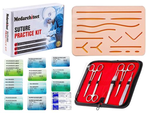 30-pc SUTURE PRACTICE KIT for Medical or Veterinary Student Training / NEW