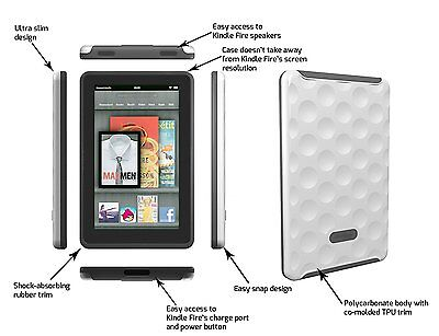 Kindle Fire Hard Candy Case Bubble Case for White Does not fit Kindle Fire HD