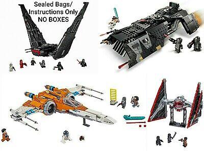 LEGO StarWars HUGE lot 75284 Knights of Ren, 75256 Kylo, 75272 Tie, 75273 X-Wing