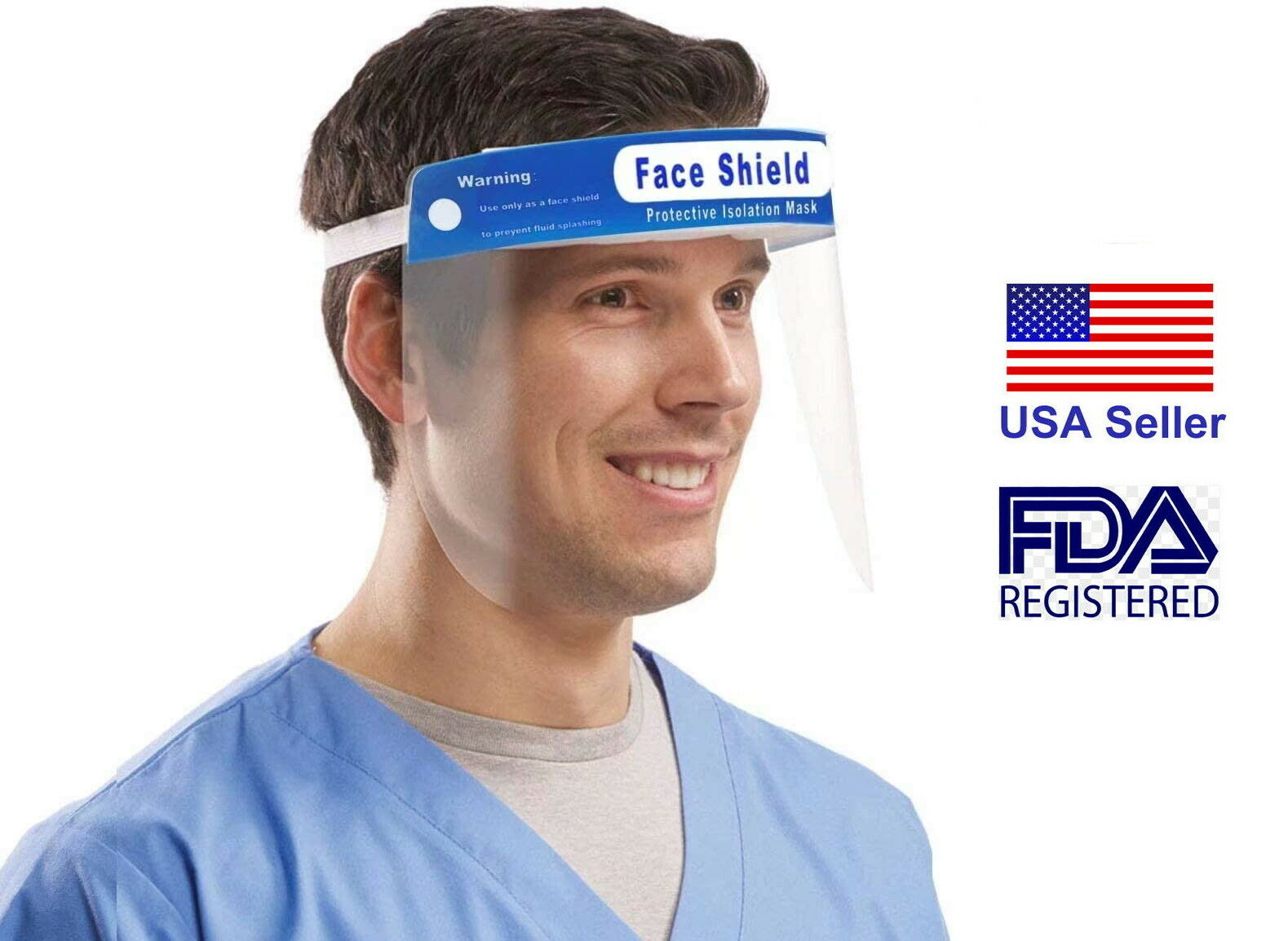 01Pcs Full Face Shield with Dust-Proof Glasses Protector Work Industry Dental