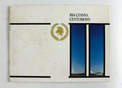 CESSNA 1974 Centurions II Sales Brochure Vintage Rare Color