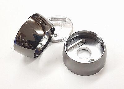Nickel Kleiderstange (2 Schwarz Nickel Metall Einbau Pole Klammern 38mm Vorhang Kleiderstange)