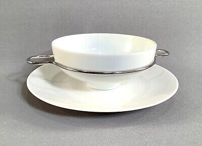 MONO GEMIINI Porcelain Small Bowl and Saucer Set by Mikaela Dörfel Designs