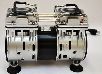 Twin Piston Oil-less Vacuum Pump 4cfm Medical Lab Bagging Workshop Milker Hookup