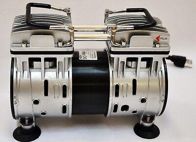 Twin Piston Oil-less Vacuum Pump 4cfm Medical Lab Bagging Workshop Milker Hookup
