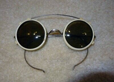 Funky Vintage Steampunk Wire Rim Eyeglasses Sunglasses