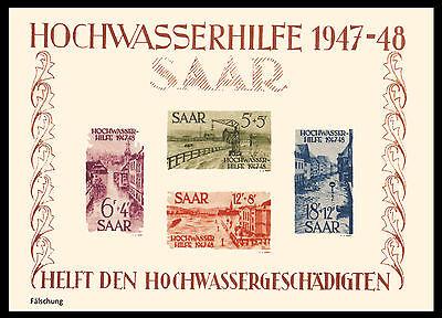 Saarland Hochwasserhilfe 1949 Block 1 (*) Fälschung