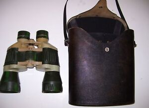 REDUCED=RUSSIAN SEHFELD MILITARY BINOCULARS & CARRYING CASE
