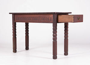 Oak-Side-Table-Jacobean-Revival-Antique-Vintage-Hall-Cutlery-Table