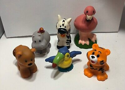 Fisher Price Little People  Zoo Animals Lot Of 6