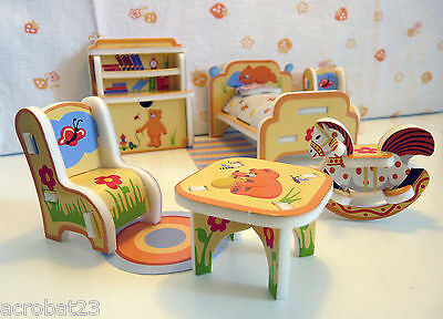 Furniture for Dolls NURSERY Dollhouse Miniature Model Kit Set 3D Puzzle
