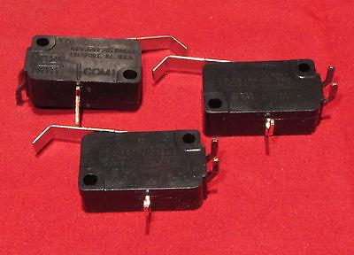 3 Pcs Micro Switch V7-2b17p Nc No 10a 125v 250vac Momentary Lever Spdt Limit F